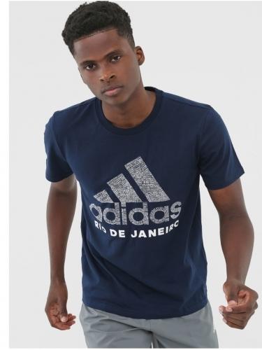Camiseta Adidas Cidade Rio de Janeiro Masculina